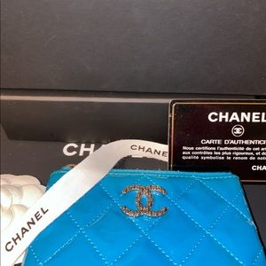 CHANEL Bags - Auth Chanel leather keychain coin cardholder pouch